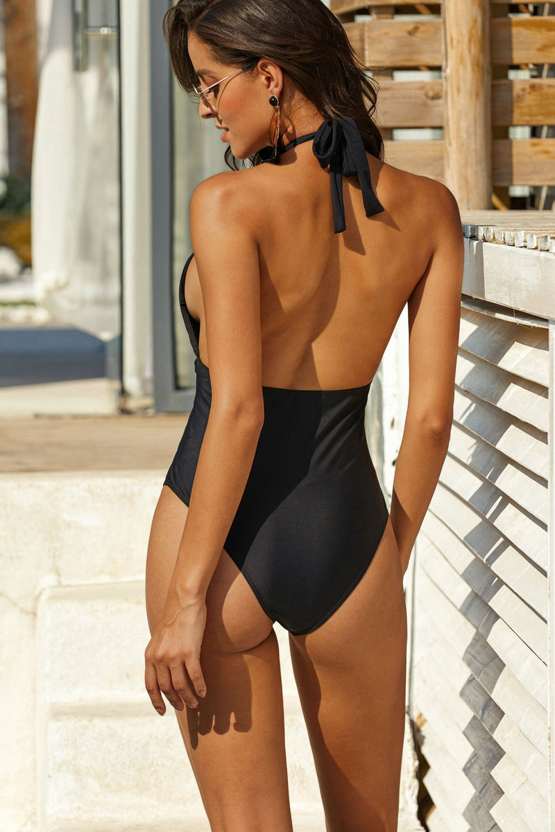 2020 Sexy Hollow Out Solid Color Swimwear