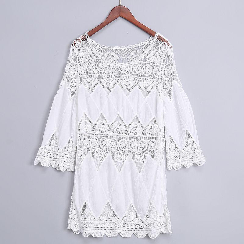 Women's Crocheting Embroidered Hollow Sun Protection Blouse