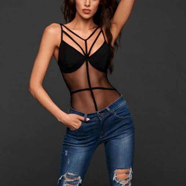 Sexy Mesh Hollowed-Out Drawstring Sexy Lingerie