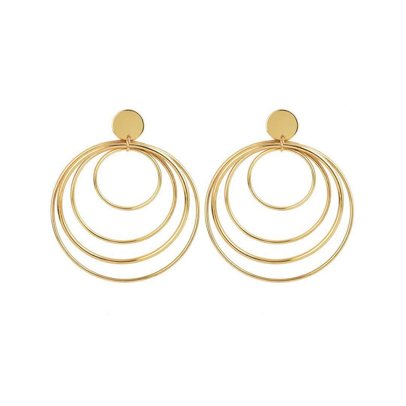 Fashion   Wild Multi-Layer Circle Earrings