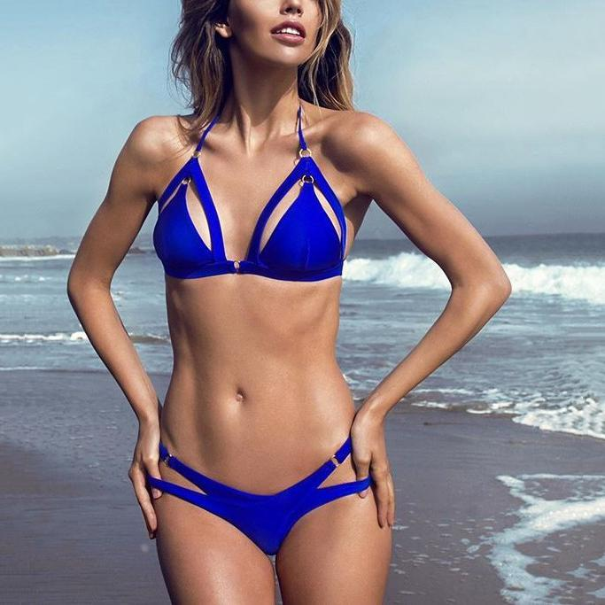 Sexy Spaghetti Strap Hollow Out Bikini