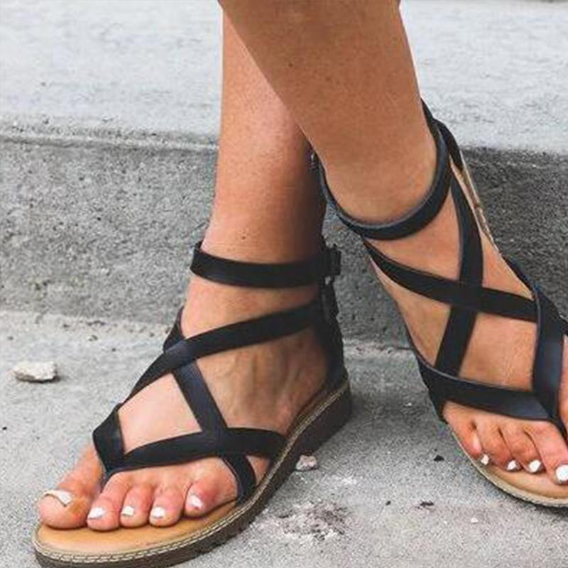 Plain Casual Summer Sandals
