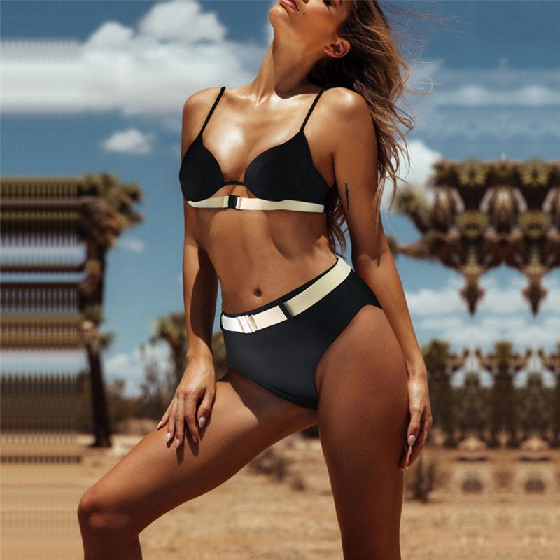 Women's Sexy Split Panel Bikini