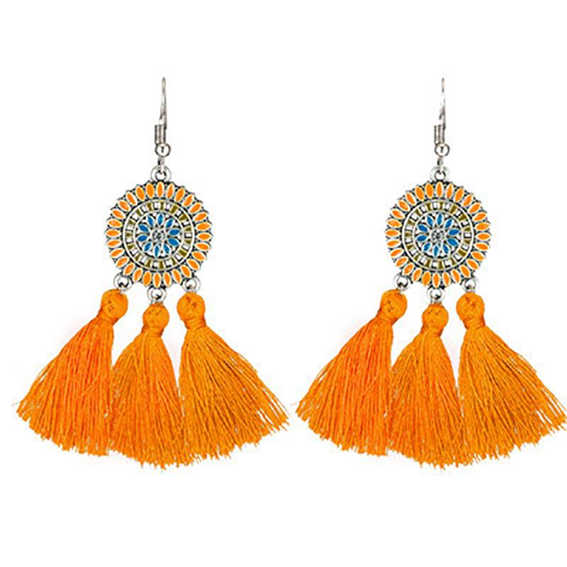 Bohemian Chic Long Fringe Earrings