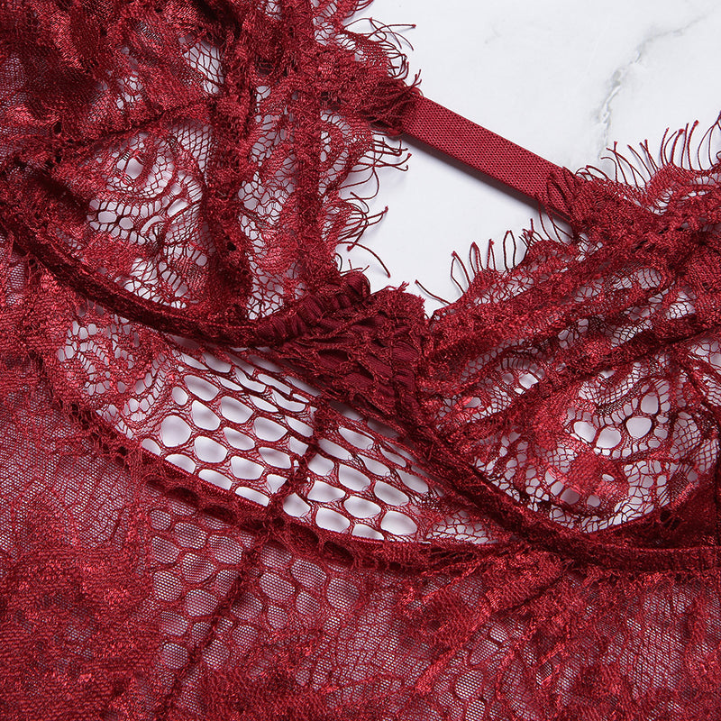 sexy mesh lace v-deep lace lingerie