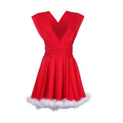 Sexy Santa Outfit Womens Ladies Miss Claus Costume Christmas Dress