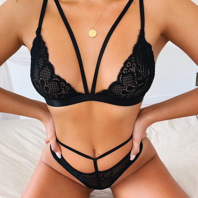 2020  Fashion Sexy Lace Underwear Women Lingerie Set