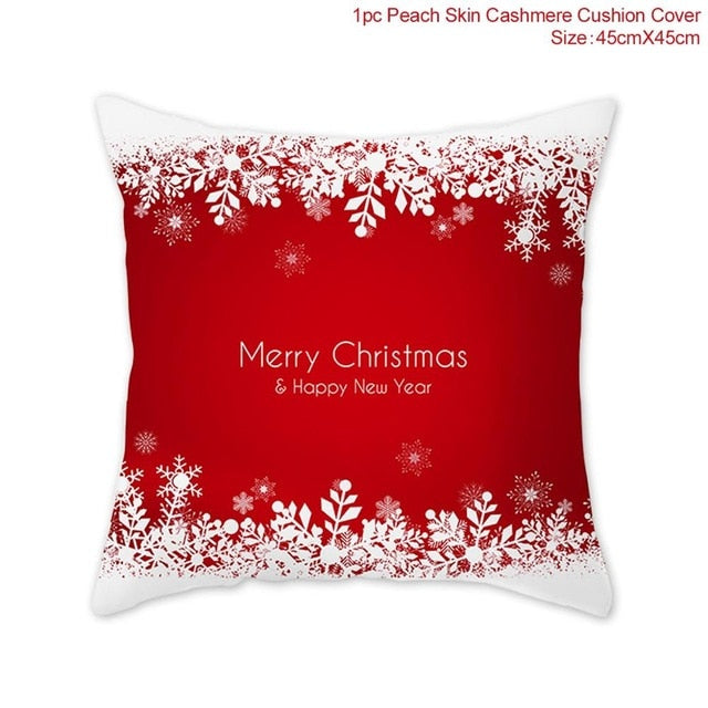 Elk Snowflake Santa Claus Christmas Pillowcase Christmas Decor