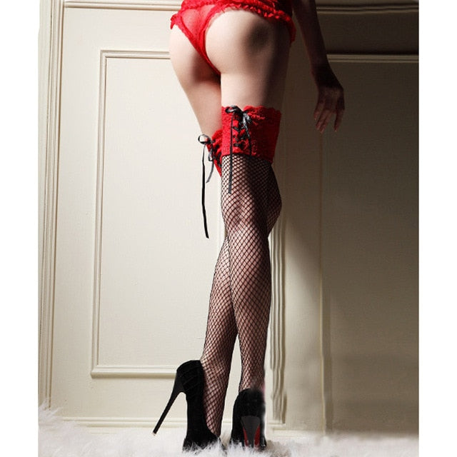 Sexy Fishnet Stockings Temptation Lace Stockings