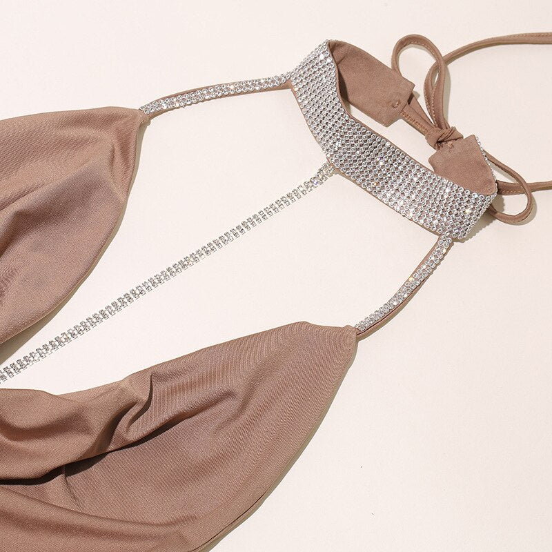 Sexy halter ring bikinis 2019 Mujer High cut swimwear
