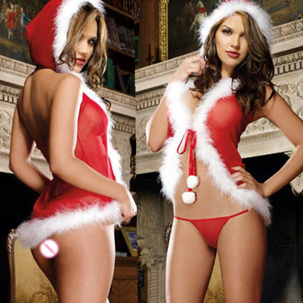 Christmas Cosplay Costumes Women Sexy Lingerie