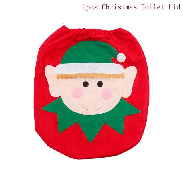 Toilet Seat Merry Christmas Decorations for Home