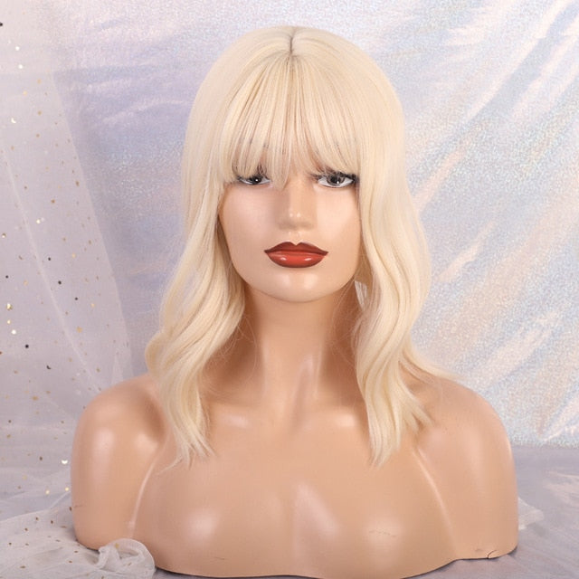 Long Wavy Synthetic Wigs With Bangs Cosplay Wigs