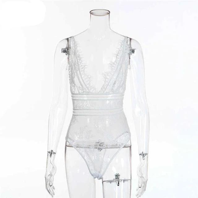 2020 Sexy Lace Women Hollow Out Bodycon Sexy Bodysuit