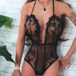 Sexy Underwear Women Lace Perspective Teddy