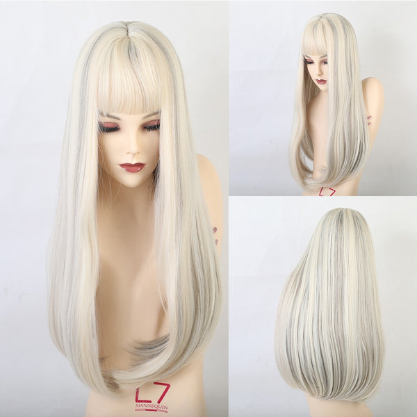 Long Straight Synthetic Wigs