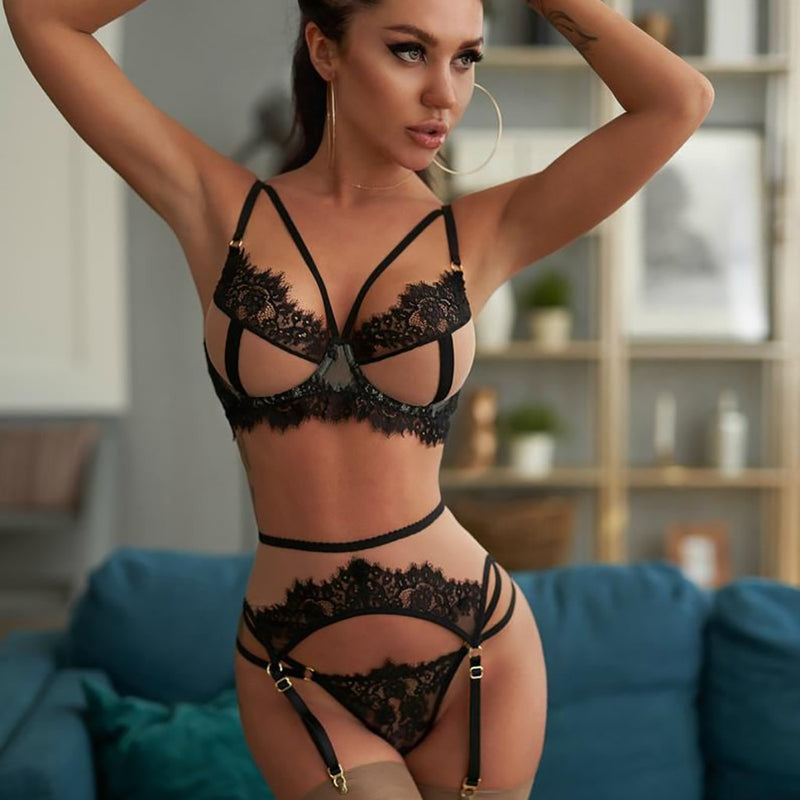 High Quality Sex Flower Lace Lingerie