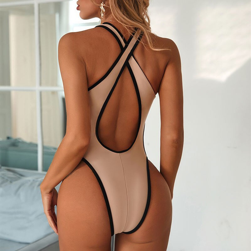 2020 new Sexy plunging neck one piece