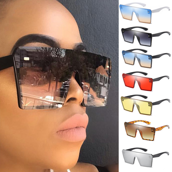Oversize Square Sunglasses Flat Top Gradient Glasses Shades Vintage Retro Style Motorcycle Outdoor Must-have