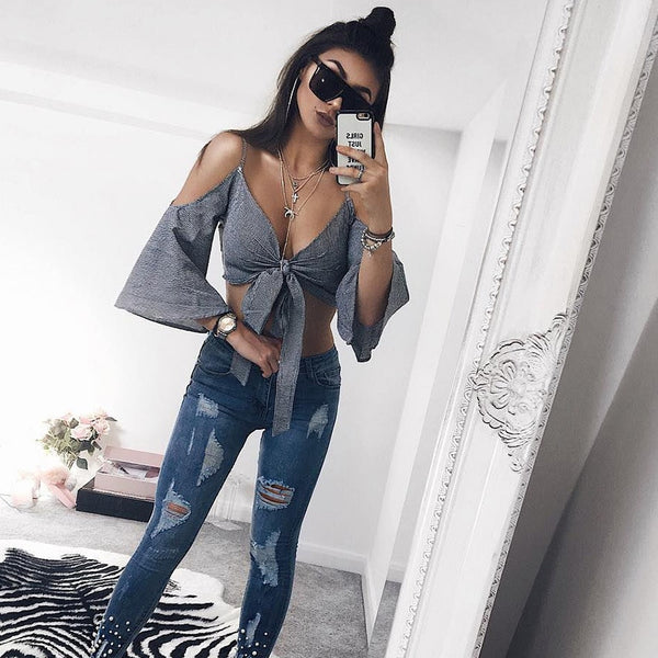 Lady Clothes Casual Ladies Sleeveless Loose Blouse Crop Top Shirt