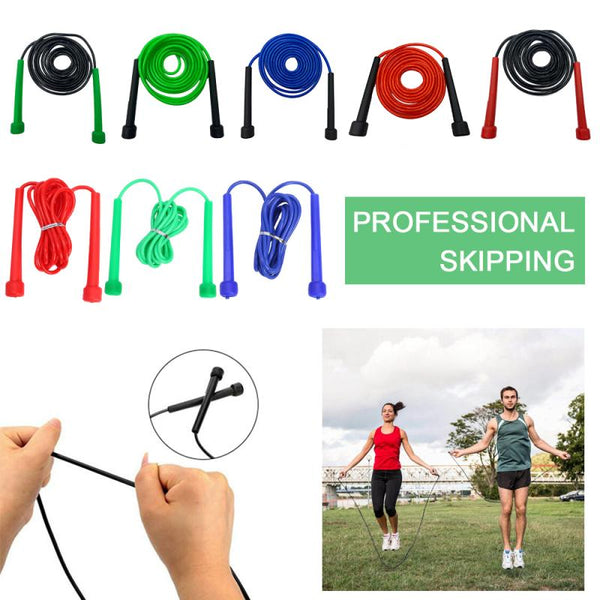 Pro Skipping Rope Adjustable Speed Jump Fitness Rope Adult 9 Foot Long Nylon Plastic Handles Gym Aerobic Fitness Boxing Training