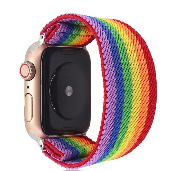 Elastic Nylon Loop Strap for Apple Watch Band 38mm 40mm 42mm 44mm
