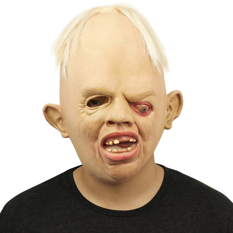 Latex Scary Horror Full Face Mask Terrible Weirdo Mask For Halloween