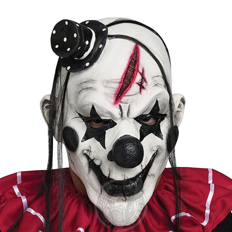 None Unisex Scary Devil Clown Mask Latex Costume Head Mask for Halloween Party