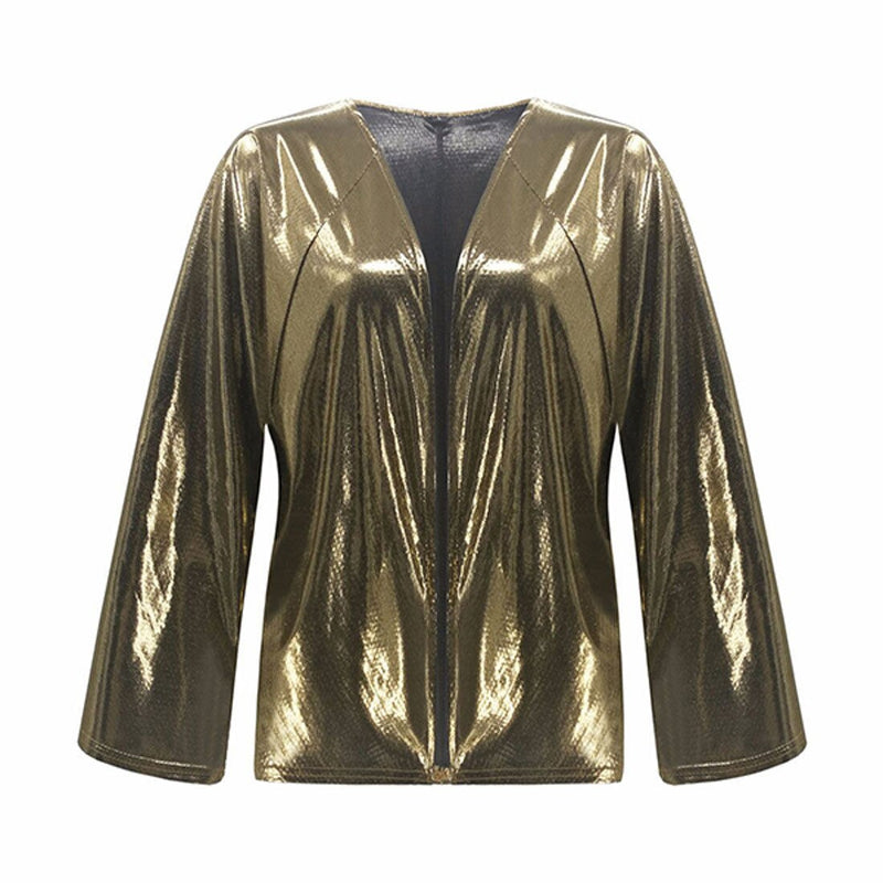 Sexy Female long sleeve  Sequins Slim blouse