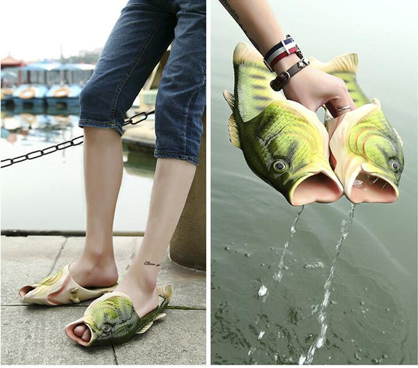 Creative Fish Type Slippers Personality Children Home Slippers Lovers Beach Shoes