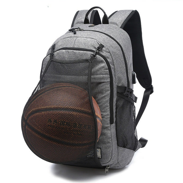 Canvas Basketball Bag Waterproof Outdoor Travel Backpack Travel Leisure Laptop Shoulders Bag