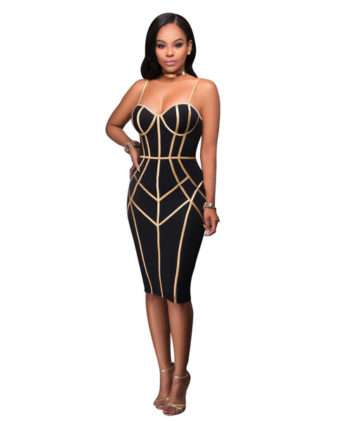 Women Sexy Printing Strapless Dress Bodycon Party Dress