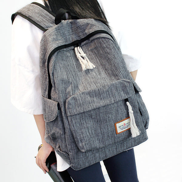 Fashion Men Women Unisex Vintage Casual Canvas Backpack Lovers Travel Bags Satchel School Bags