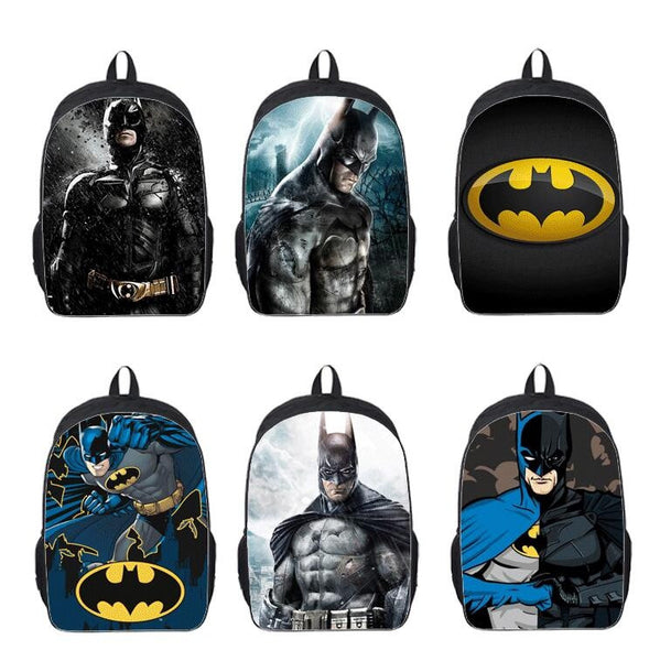 Batman Students Backpack Fashion Anime Cartoon Rucksack School Laptop Bag