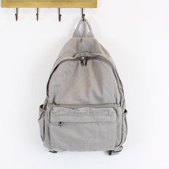 Arts Fan Wash Water Canvas Simple Leisure School College Student Bag Backpack