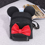 Fashion Girls Cute Synthetic Leather Bow Small Travel Backpack School Bag