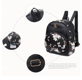 Girls Mini Butterfly Printing PU Leather Shoulder Bag Backpack Sport Daypack