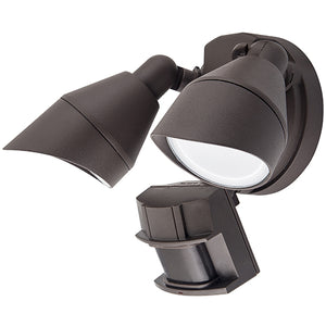 Dual Head LED Security Light | With or Without Motion Sensor