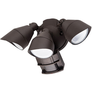 Triple Head LED Outdoor Security Lights - 36W