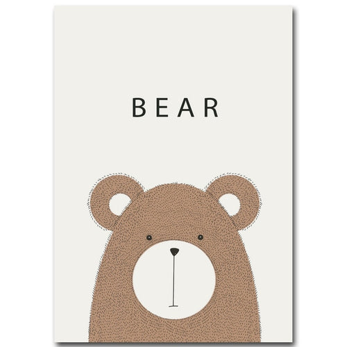 Cartoon Bear Poster