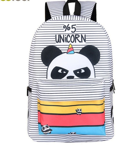 5% Unicorn Panda Backpack - 17 Inch