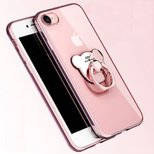 Load image into Gallery viewer, Silicone Case and Bear ring holder - iPhone