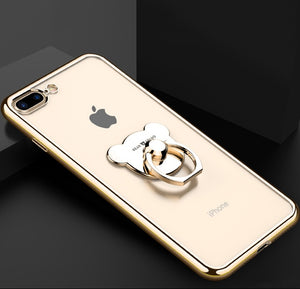 Silicone Case and Bear ring holder - iPhone