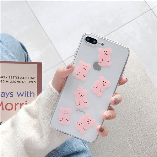 Transparent Cartoon Bear Case
