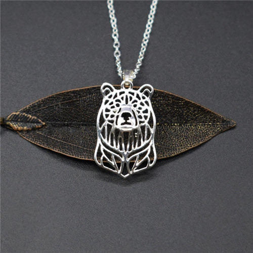 Bear Head Pendant Necklace