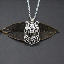 Load image into Gallery viewer, Bear Head Pendant Necklace
