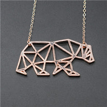 Load image into Gallery viewer, Origami Walking Bear Necklace