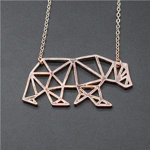 Origami Walking Bear Necklace