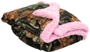 Highland Timber Camo Plush Fleece Sherpa Baby Blanket