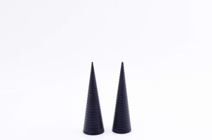 Cream Cone Conical | Ribbed